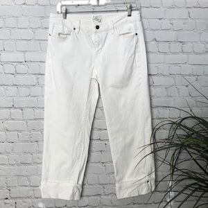 WHITE HOUSE BLACK MARKET Cropped White Jeans Size4